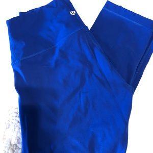 Lululemon crop blue leggings